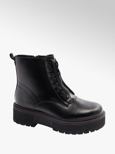 Catwalk Plateau Boots in Schwarz