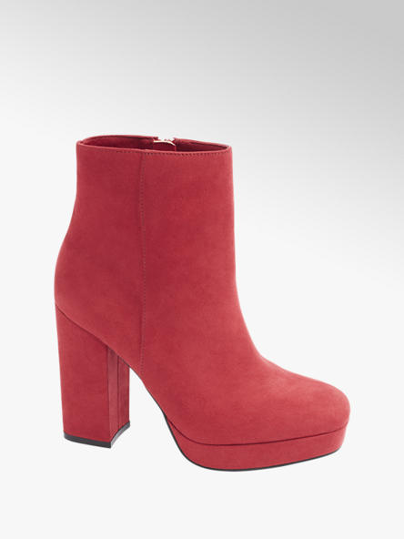 Catwalk Stiefeletten in Rot