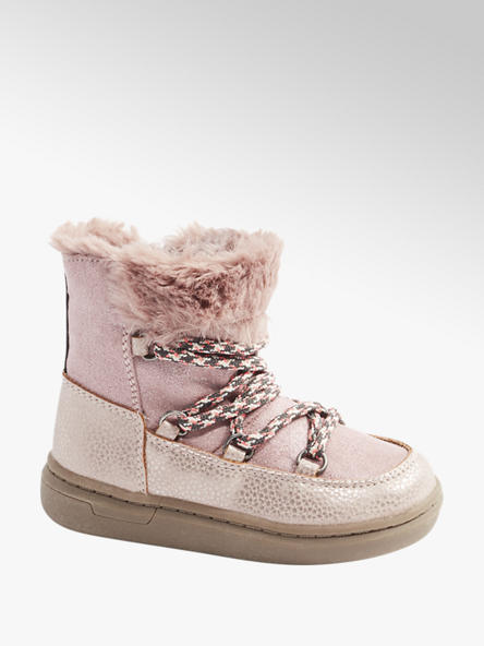 Cupcake Couture Boots in Rosa mit Fake-Fur