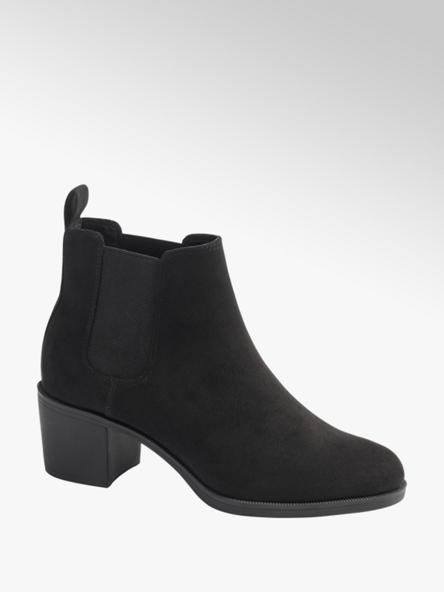 Graceland Black Faux Suede Ankle Boots