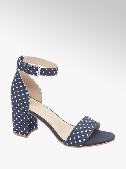 Graceland Sandaletten in Blau mit Print-On