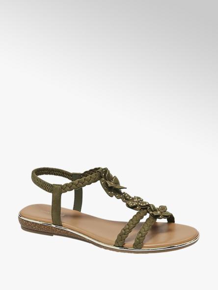 Graceland Kaki sandále Graceland