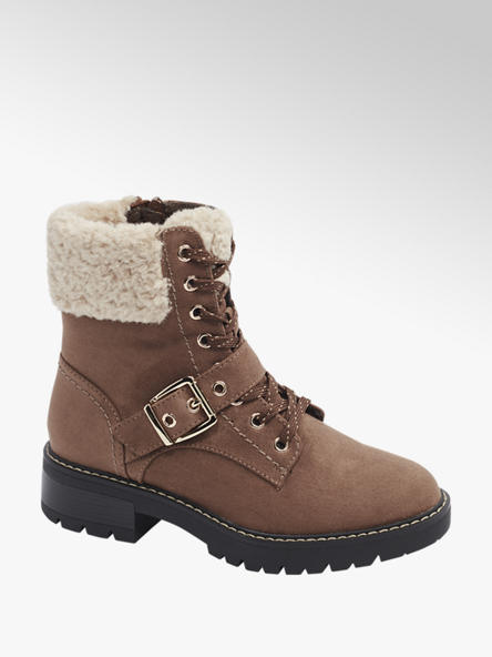 Landrover Light Brown Lace Up Ankle Boots