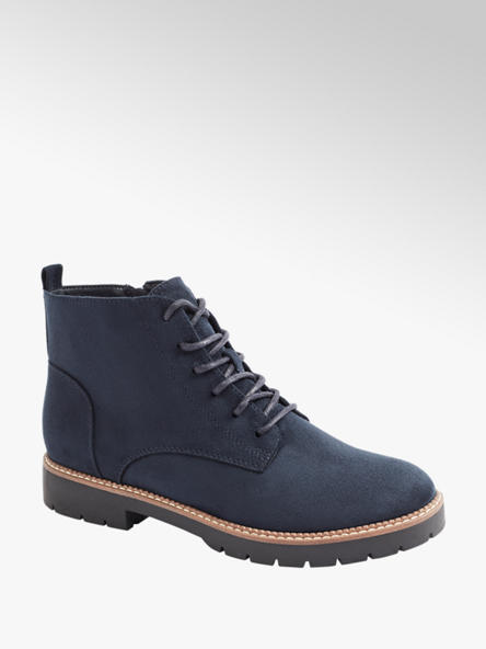 Graceland Modrá šnurovacia obuv so zipsom Graceland