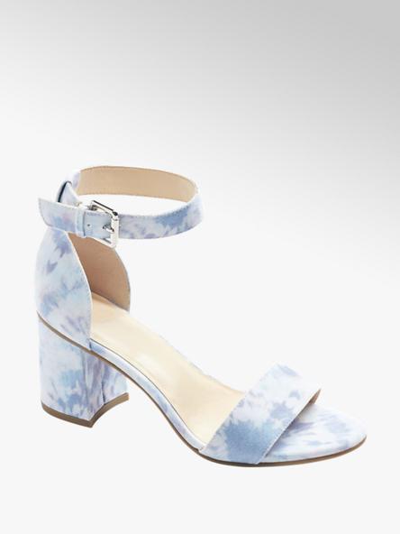 Graceland Modro-fialové sandále na podpätku Graceland