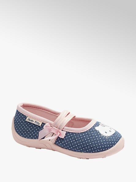 HELLO KITTY Modro-ružové dievčenské prezuvky Hello Kitty