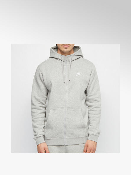 NIKE Sweatjacke in Grau