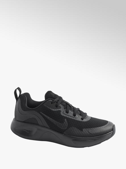 NIKE Ladies Nike Wearallday Black Lace-up Trainers