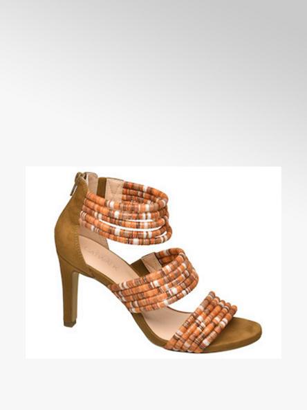 Catwalk Oranžové sandále na podpätku Catwalk