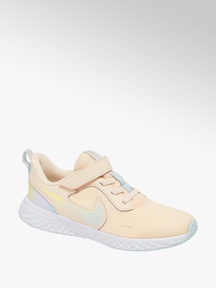 NIKE Oranžové tenisky na suchý zips Nike Revolution 5