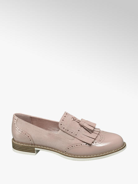 Graceland Púderszínű rojtos loafer