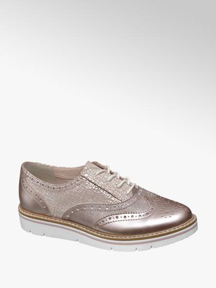 Graceland Rose gold dandy cipő