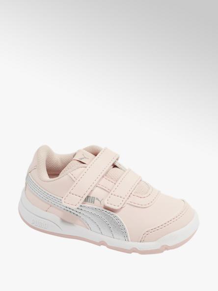 Puma Růžové dětské tenisky na suchý zip Puma