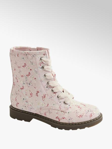 Graceland Růžová kotníková obuv se zipem Graceland