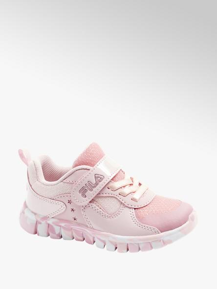 Fila Ružové tenisky na suchý zips Fila
