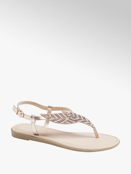 Graceland Ružovozlaté sandále Graceland
