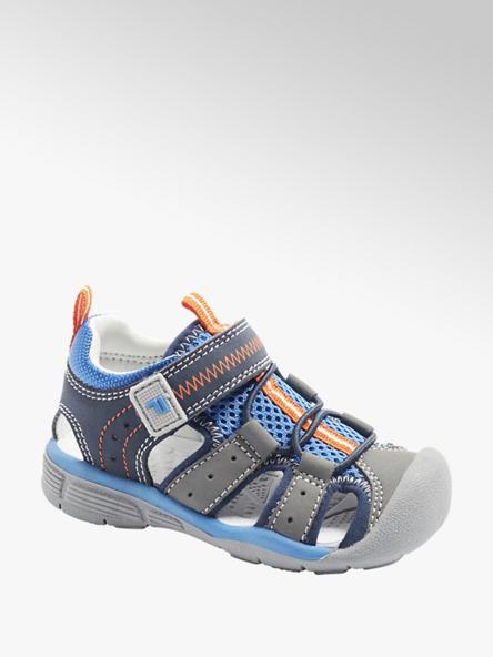 Fila Sivo-modré detské sandálky na suchý zips Fila