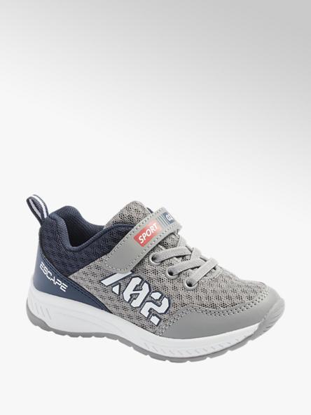 Bobbi-Shoes Sivo-modré tenisky na suchý zips Bobbi Shoes
