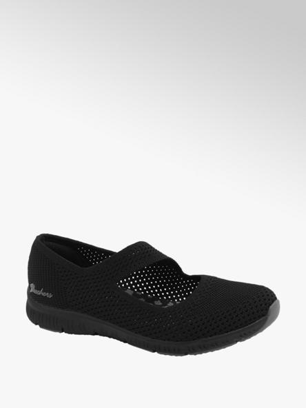 Skechers Slipper in Schwarz mit Knitted-Optik