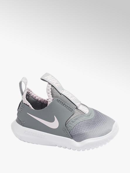 NIKE Svetlosivé detské slip-on tenisky Nike Flex Runner