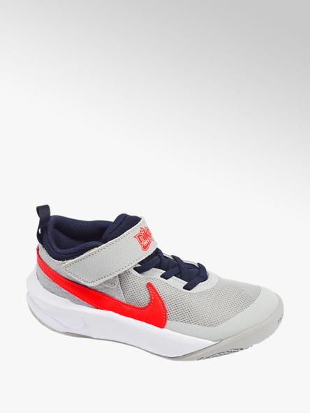 NIKE Svetlosivé tenisky na suchý zips Nike Team Hustle