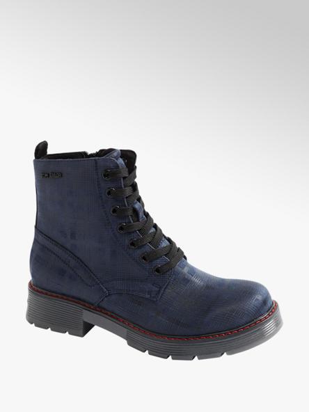 Tom Tailor Tmavě modrá šněrovací obuv se zipem Tom Tailor