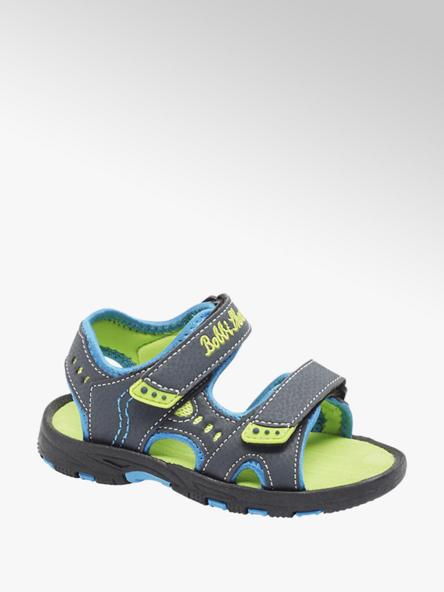 Bobbi-Shoes Tmavomodré sandále na suchý zips Bobbi Shoes