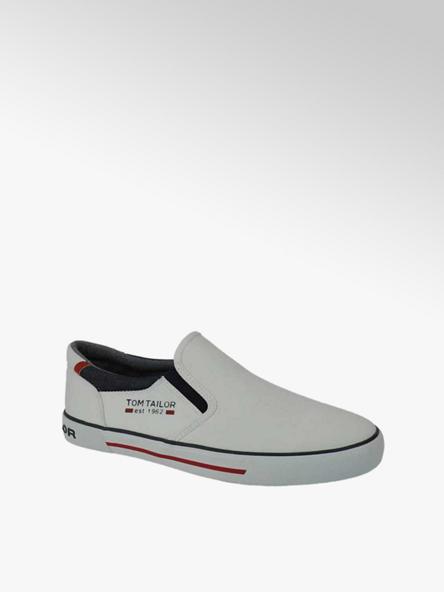 Tom Tailor Slip On Leinen Sneaker in Weiß