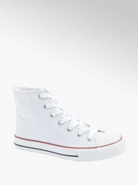 Vty Leinen Mid-Cut Sneaker in Weiß