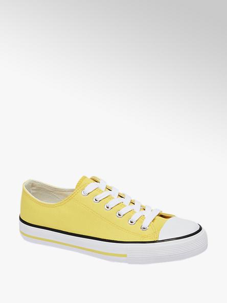 Vty Leinen Sneaker in Gelb