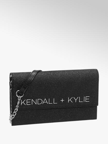 Kendall + Kylie Zwarte clutch glitter