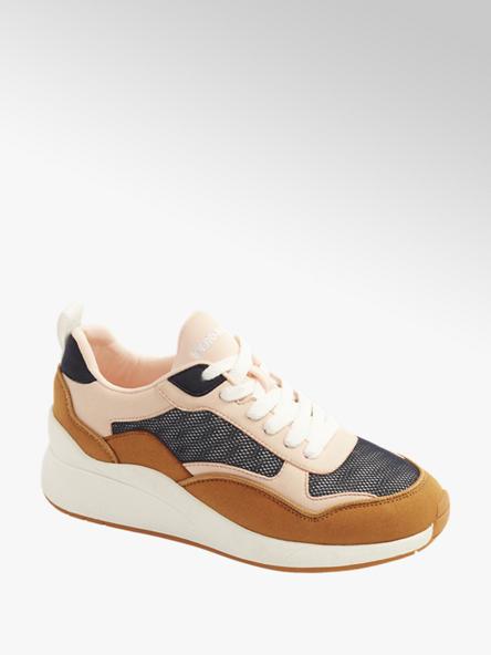 Vero Moda beżowo-białe sneakersy damskie Vero Moda typu chunky