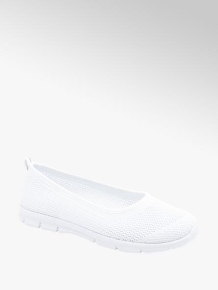 Graceland białe lekkie baleriny damskie w sportowym stylu