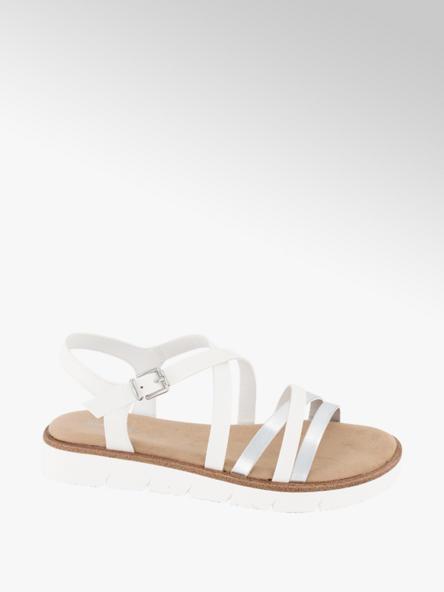 Graceland białe sandały damskie Graceland