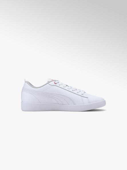 Puma białe skórzane sneakersy damskie Puma Smash Wns