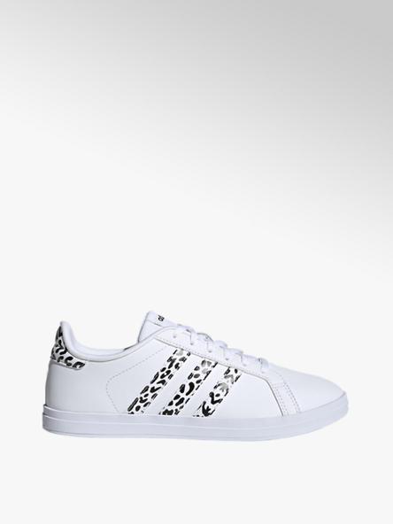 adidas białe sneakersy damskie COURTPOINT X z czarnymi elementami