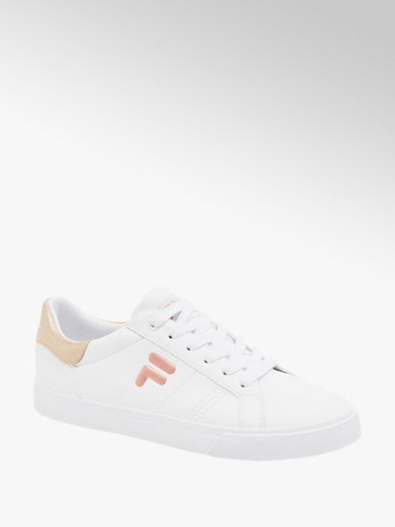 Fila białe sneakersy damskie Fila z różowymi akcentami