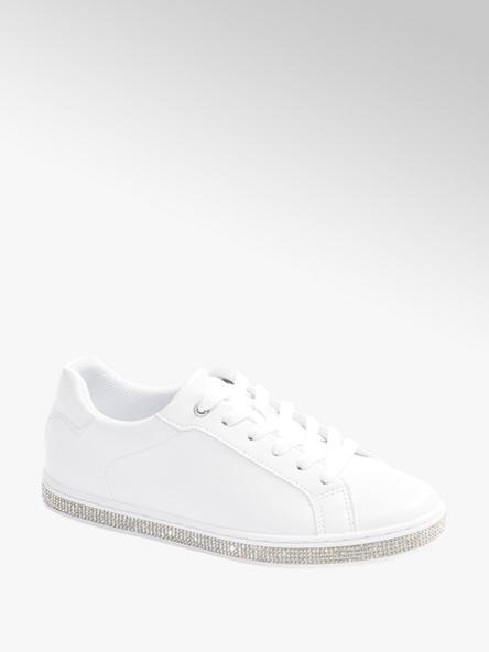 Graceland białe sneakersy damskie Graceland ozdobione błyszczącymi elementami