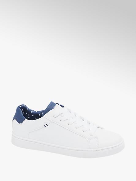 Graceland białe sneakersy damskie Graceland z granatowymi akcentami