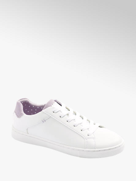Graceland białe sneakersy damskie Graceland z liliowymi akcentami