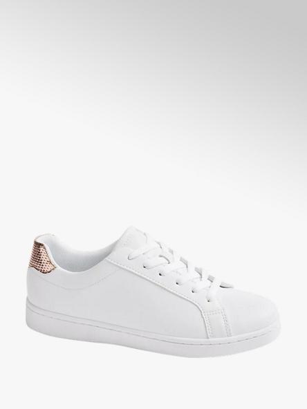 Graceland białe sneakersy damskie Graceland ze złotym elementem