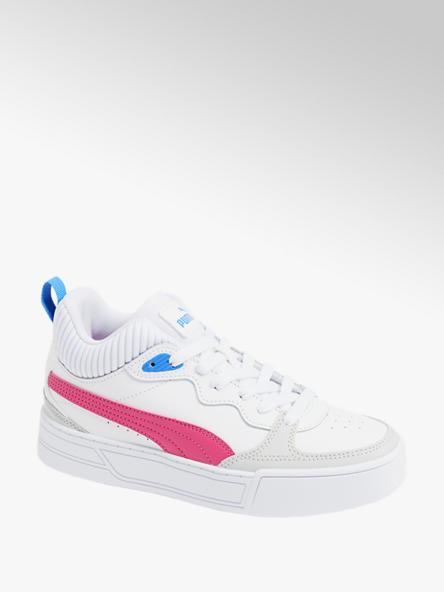Puma białe sneakersy damskie Puma Skye Demi z różowymi i niebieskimi elementami