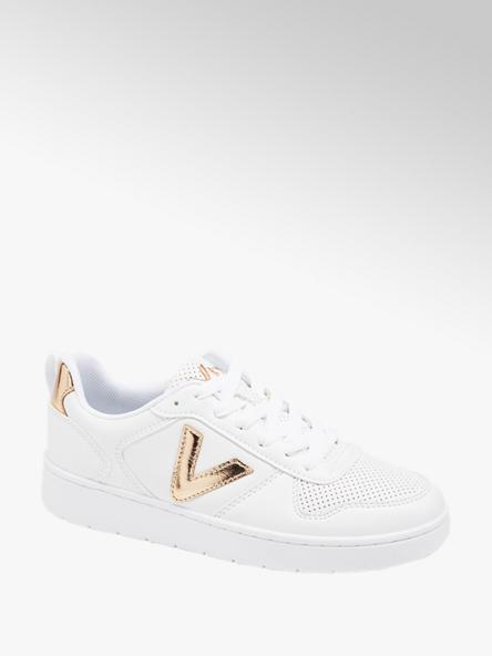 Vty białe sneakersy damskie Vty ze złotymi akcentami