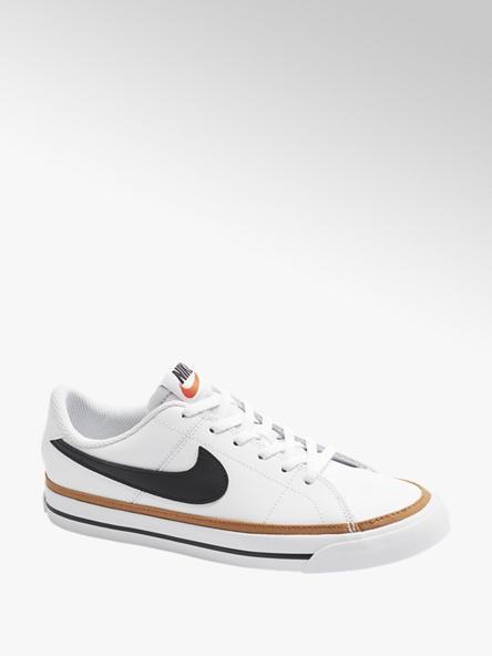 NIKE białe sneakersy młodzieżowe Nike Court Legacy ze skóry