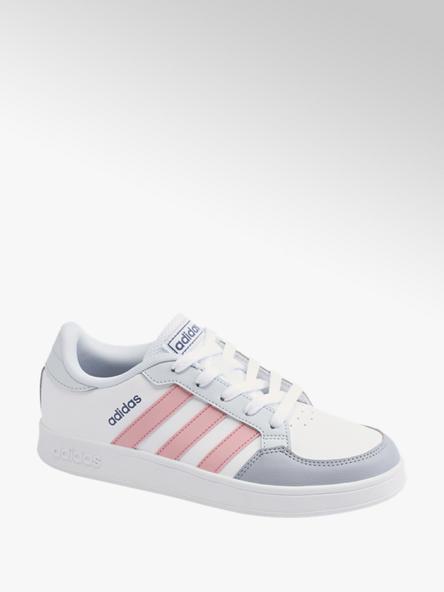 adidas biało-różowo-szare sneakersy młodzieżowe adidas BREAKNET