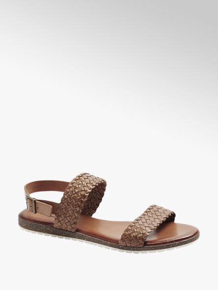 5th Avenue brązowe płaskie sandały damskie 5th Avenue