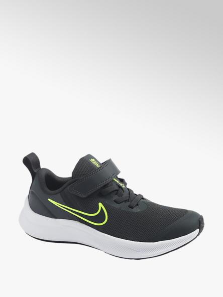 NIKE ciemnoszare sneakersy chłopięce Nike STAR RUNNER 3 z zapięciem na rzep