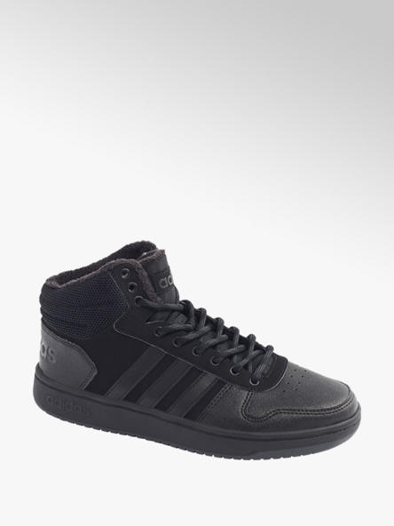 adidas czarne ocieplane sneakersy męskie adidas Hoops 2.0
