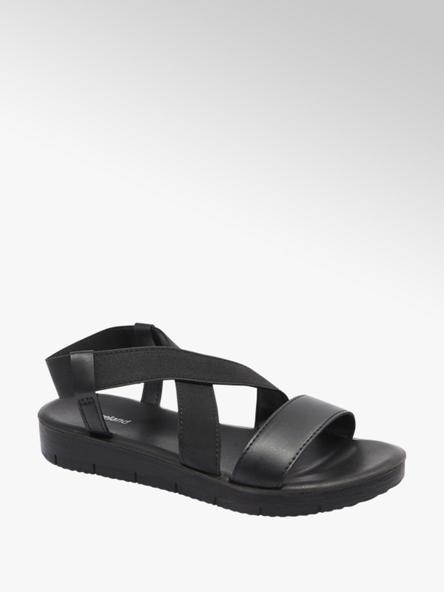 Graceland czarne sandały damskie Graceland z elastycznymi paskami