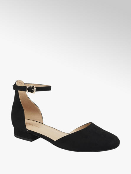 Graceland czarne sandały damskie Graceland z zakrytym przodem